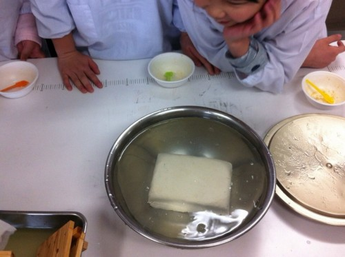 完成した木綿豆腐