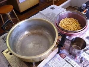 子どもたちが育てた大豆