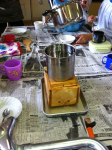 木綿豆腐作成中